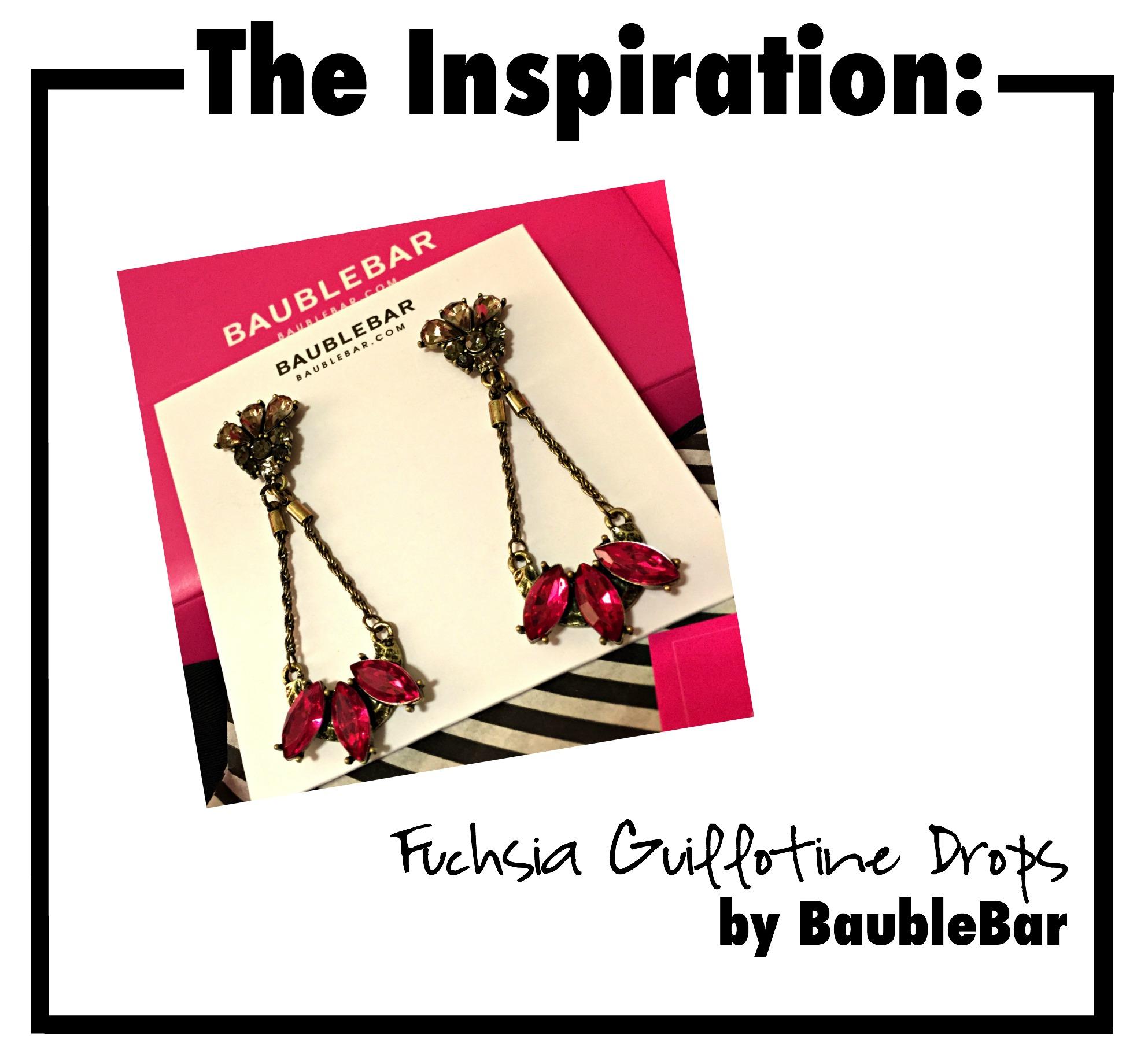 baublebar earrings, drop earrings, fuchsia earrings, statement earrings, great guy, bauble bar, fashion earrings