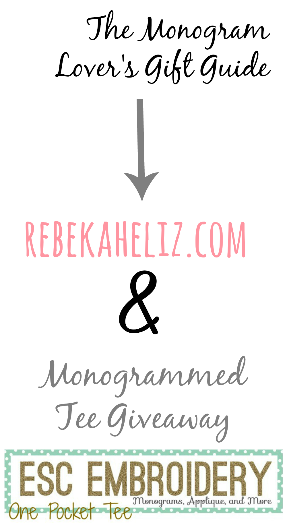 monogram lover's gift guide, giveaway, monogram giveaway