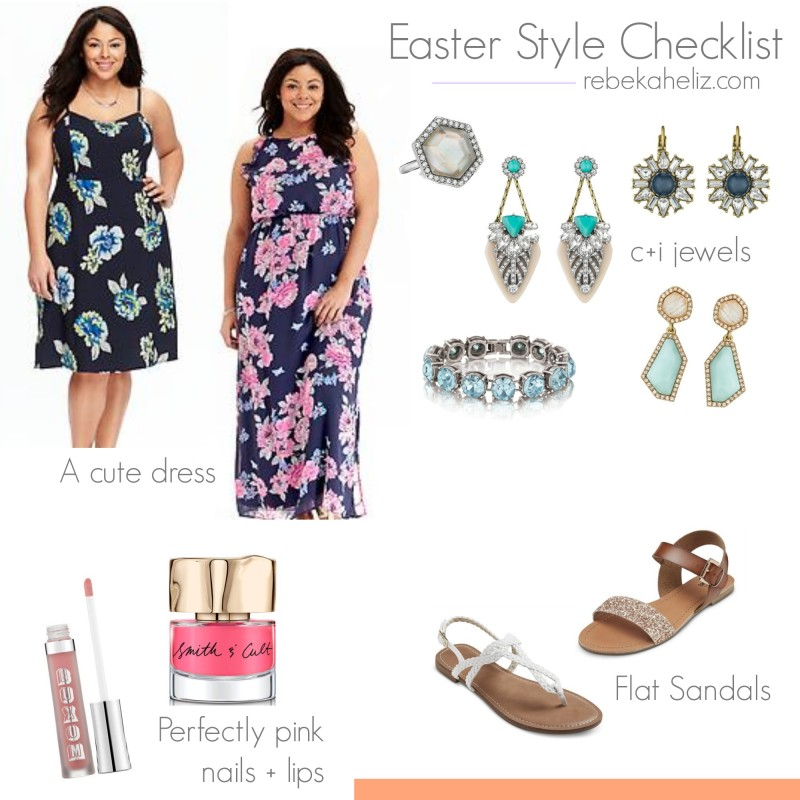 easter style checklist, easter, style, sandals, target, old navy, jewelry, chloe and isabel, buxom, smith and cult, pink, floral, maxi dress, dress