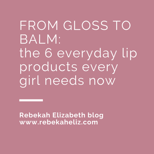 lip products, lip gloss, lip balm, lips, rebekahelizblog