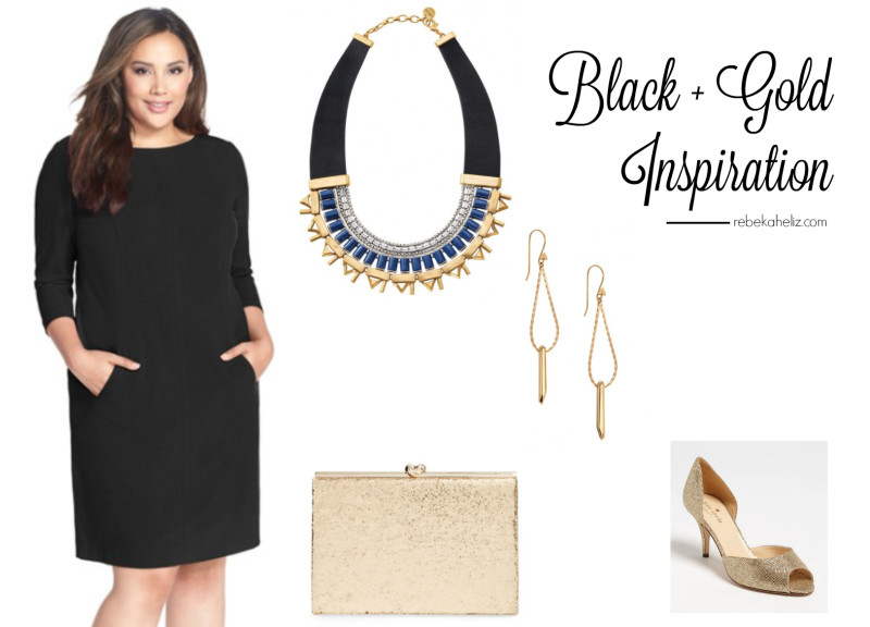 black and gold, outfit inspiration, stella dot, stella and dot, gold, gold glitter