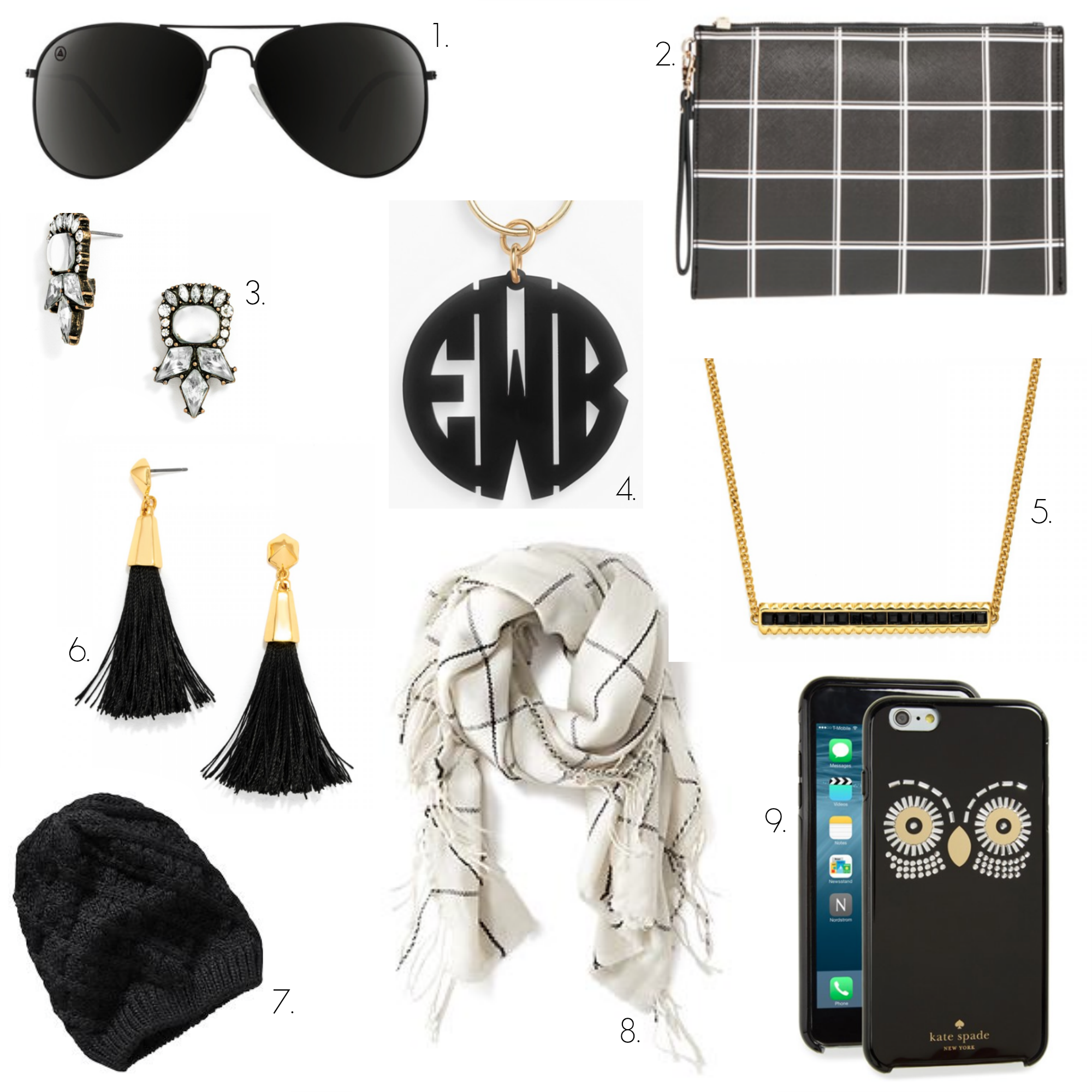 black and white accessories, black, white, blenders eyewear
