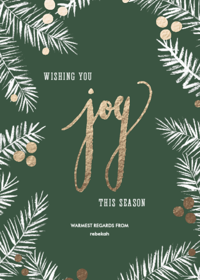 rose gold, holiday cards, merry christmas, joyful card, minted