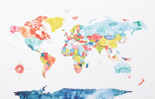 world travel, map, travel, uncommon goods