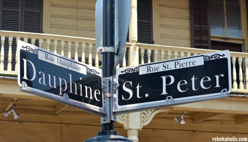 street signs NOLA, new orleans, dauphine, street