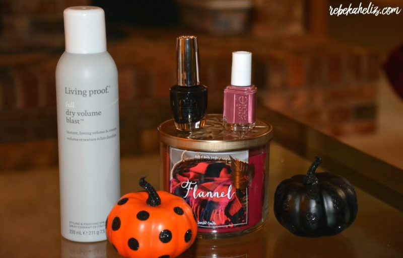 intro fall beauty, rebekaheliz, fall, nail polish, living proof, OPI, essie, bath body works, target