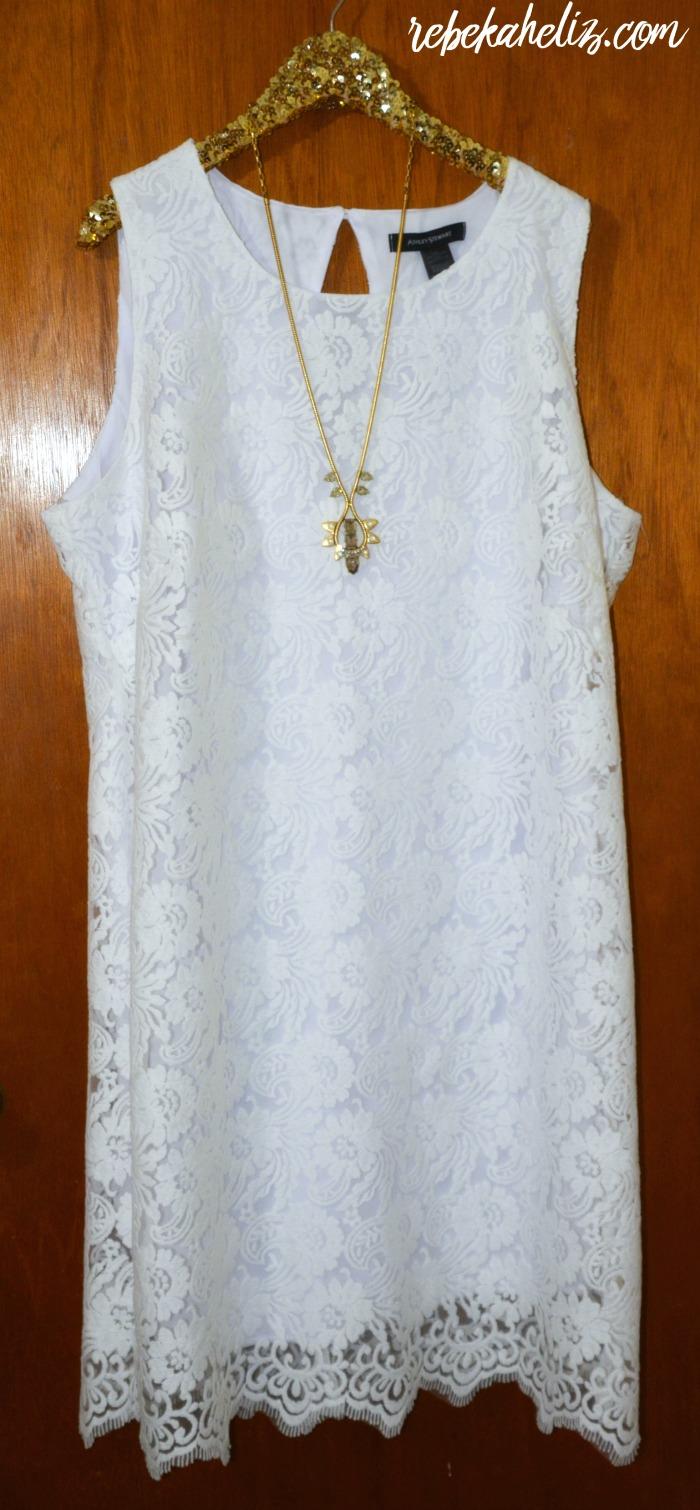 ashley stewart, spring, spring style, style, white dress, lace dress, dress