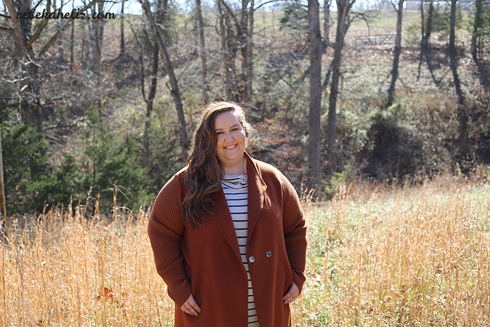 ootd, stripes, orange coat, coat sale, winter, rain jacket