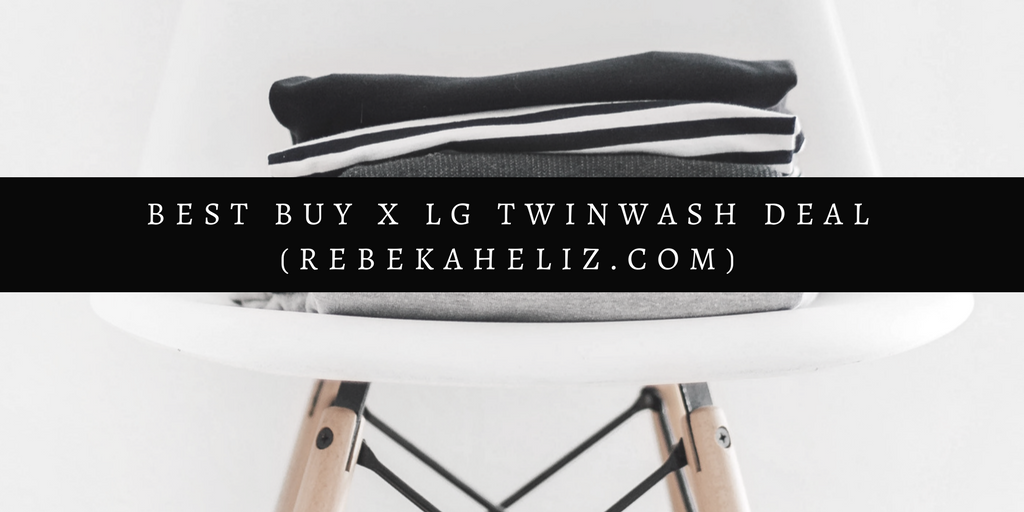 LG, LG TwinWash, Best Buy, washer and dryer, washer, dryer, first home, shopping