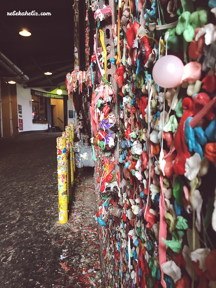 seattle, weekend getaway, travel, wanderlust, pike place market, underground tour, gum wall