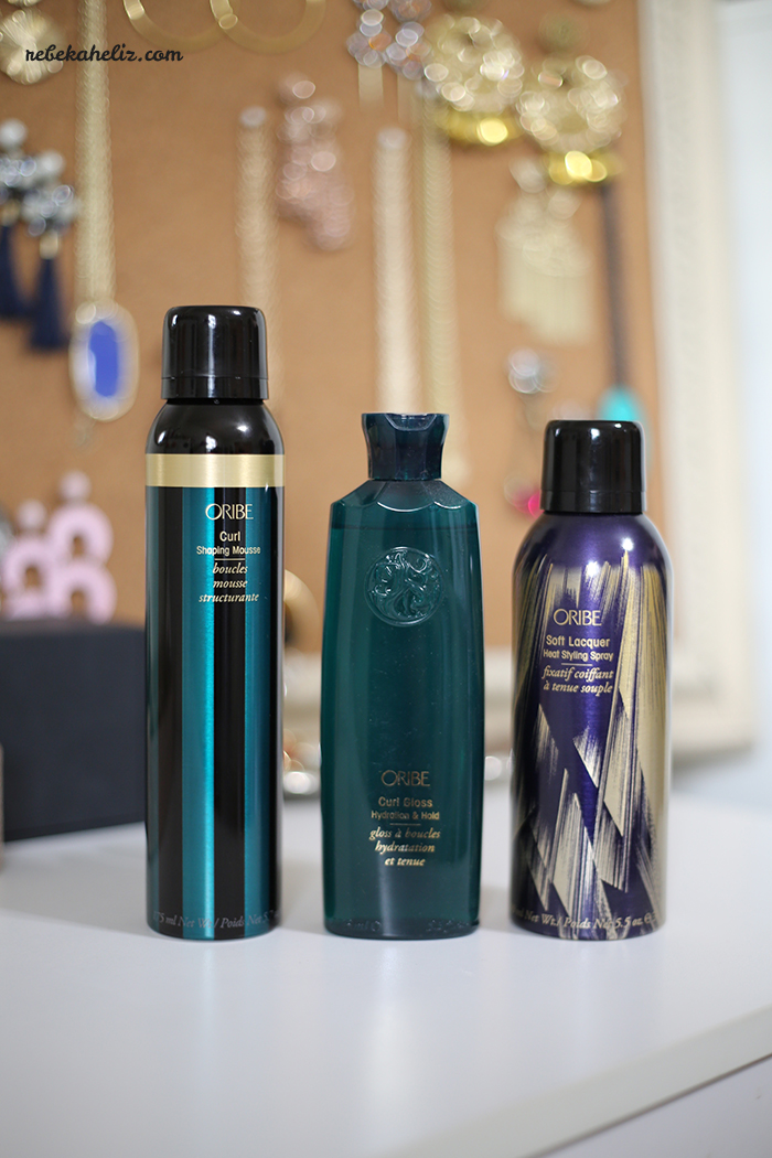 oribe, haircare, hair, style, hair style, curls, hair spray