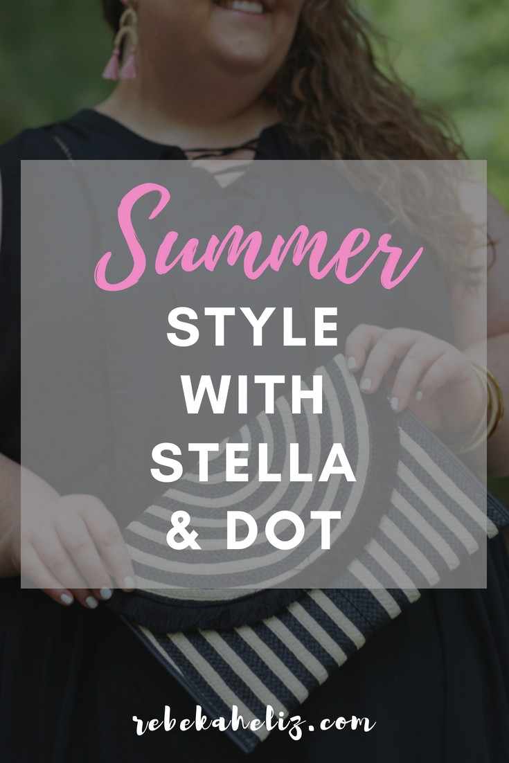 stella and dot, summer style, stella dot, black and white, black and white clutch