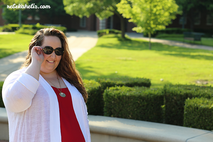 4th of july, amala pendant necklance, red white and blue, red tank, these curves, torrid, outfit ideas, ootd, wiw, jewelry, stella and dot