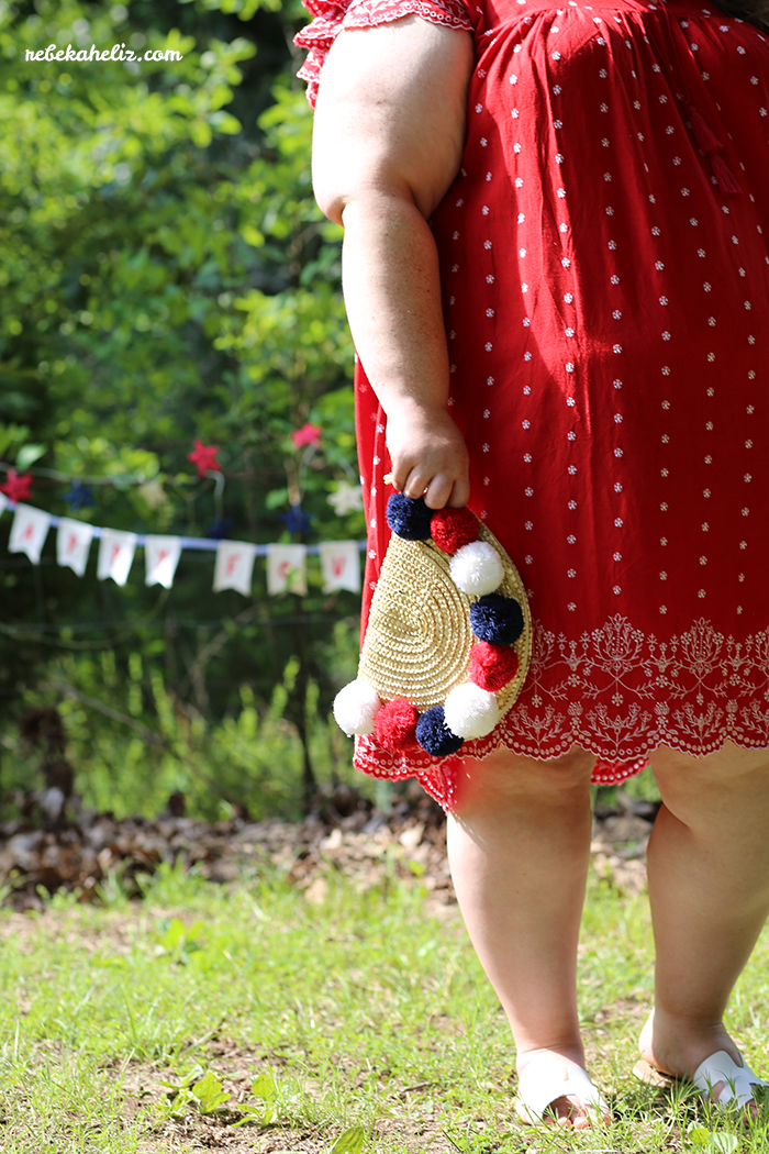 4th of july, amala pendant necklance, red white and blue, red tank, these curves, torrid, outfit ideas, ootd, wiw, jewelry, stella and dot, red dress